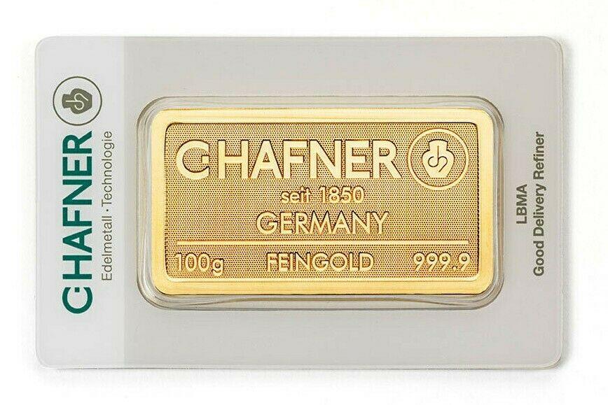 Goldbarren Hafner