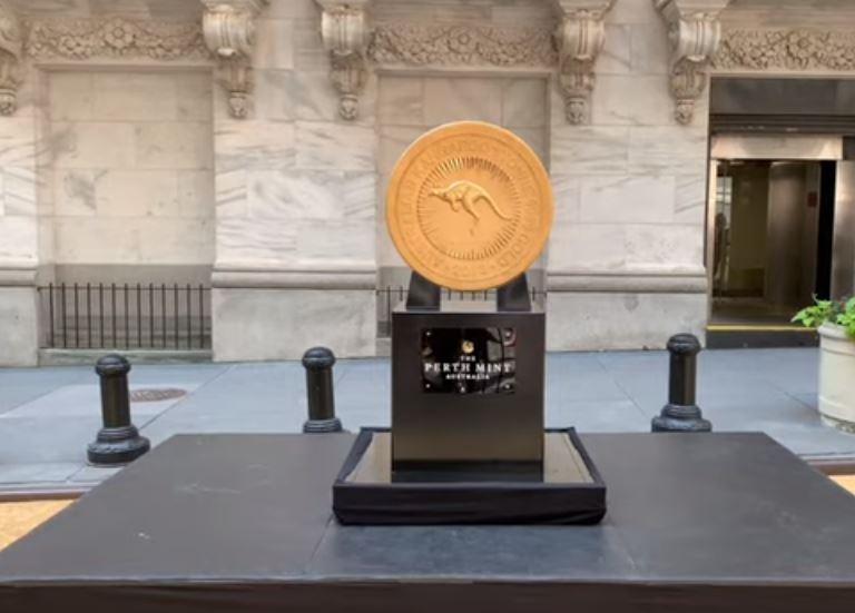 größte Goldmünze der Welt: Känguru der Perth Mint 1000 Kilogramm