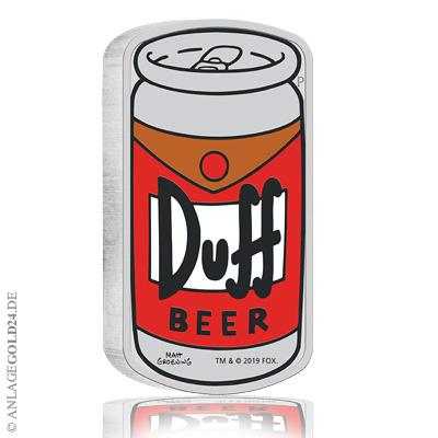 Duff Beer Silbermünze 2019 der Perth Mint