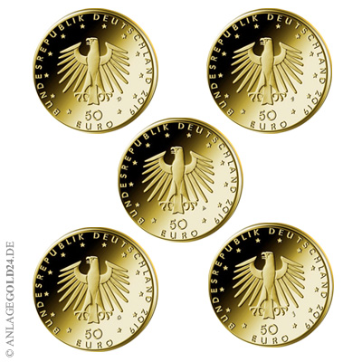 Flügel Goldmünzen Hammerflügel ADFGJ