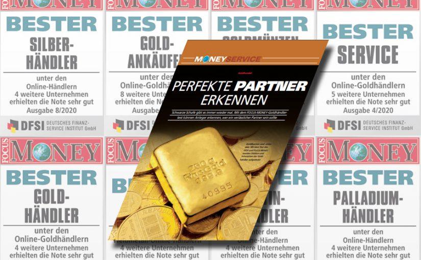 """Focus Money zeichnet Anlagegold24 zum vierten Mal als """"Bester Goldhändler""""' aus"""