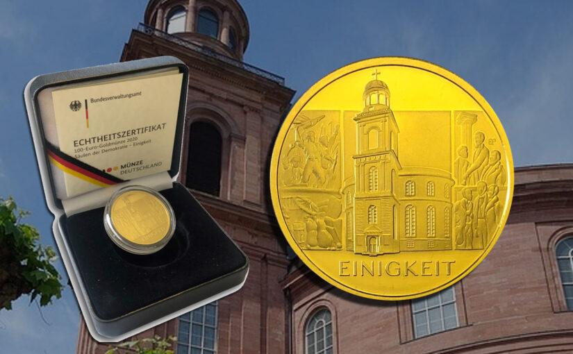 100 Euro Gold Säulen der Demokratie zu Spitzenpreisen
