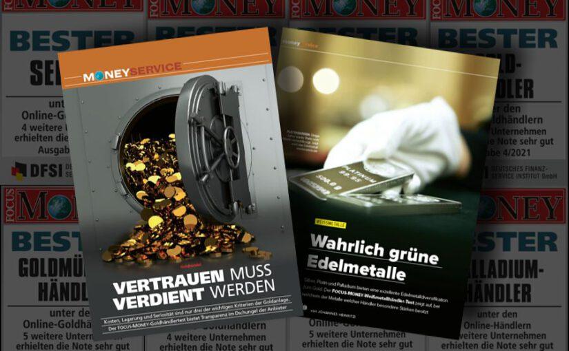 Focus Money: Anlagegold24 abermals 27-facher Testsieger
